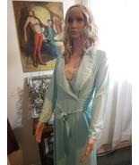 Vintage Vanity fair Mint Green Nightgown/robe Set RARE small  - $128.69