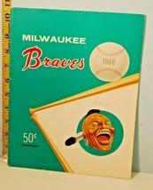 1960 Milwaukee Braves Baseball Yearbook w/Extras Manny's Souvenir Price ... - $54.45