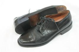 Bostonian Men's Shoes Size Us 9.5M Black Leather Oxfords Casual Dress Lace Up - $39.60