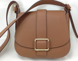 Michael Kors Maxine Saddle Bag Shoulder Crossbody Leather NWT Luggage Brown - $157.41