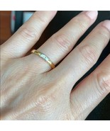 14K Solid Real Gold Yellow Diamond Wedding Band Engagement Ring Size 6.2... - $255.42+