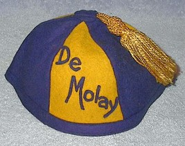 Vintage Childs DeMolay Tassled Cap Hat - $49.95