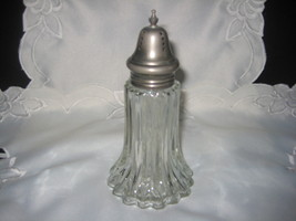crystal clear powder shaker with silver top - $20.00