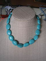 Vintage Chaps Reconstituted Turquoise Necklace & Bracelet Set - $35.00