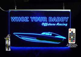 Personalized Speed Boat Sign LED Man Cave Sign- Garage Sign, Bar sign - $96.03+