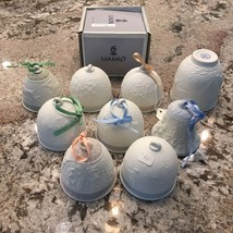 9 lladro bell, cup , collection 1988, 91, 93, 94, 98 - $113.84