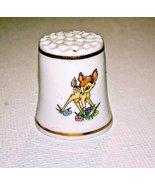 Disney  Bambi & Thumper  Character Thimble 1993 Porcelain - $6.95