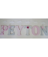 Wood Letters-Nursery Decor- ANY  NAME- Custom made to your décor - $12.50