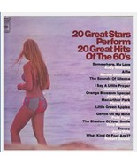 20 GREAT STARS PERFORM 20 GREAT HITS OF THE 60'S LP GP25 - $3.95