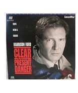 CLEAR AND PRESENT DANGER Laserdisc WIDESCREEN EDITION - $7.42