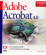 Adobe Acrobat Professional 4.0 Upgrade MAC - $9.99