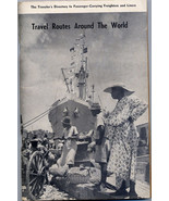 TRAVEL ROUTES AROUND THE WORLD 1954 edition - $10.99
