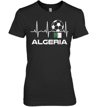 Algeria Soccer Jersey T Shirt  Algerian Flag Heartbeat Gift - $19.99+