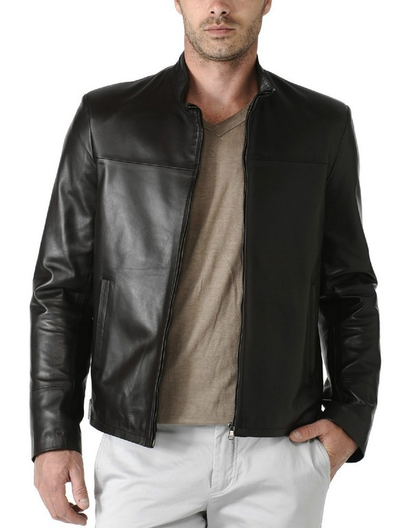 Mens Leather Jacket, Mens motorcycle leather jacket, bomber leather jacket mens for sale  USA