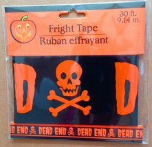 Pirate Skull Crossbones-DEAD END-Fright Caution Tape-Halloween Decoratio... - $3.93
