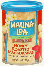 HONEY ROASTED MAUNA LOA MACADAMIA NUTS 12 / 4.5 OZ CANS - $75.19