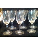 CRYSTAL CORDIAL GLASSES 7 Vintage - $145.53