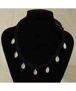 Handmade Hemp Macrame Necklace 18in Pretty - $7.95