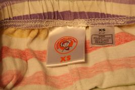 LITTLE MISS MATCHED Girls XS 3T-4T Orange Pink blue Yellow striped leggings pant image 3