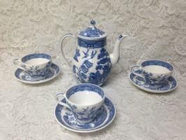 Vintage, Wedgwood, Etruria Inghilterra, 8-pc Blu Salice Set da Tè - $151.76