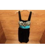 Studio City Corset Dress Blue Accent Polyester ... - $18.85