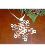 Paper Quill Cream Rustic Snowflake Ornament- Ha... - $7.95