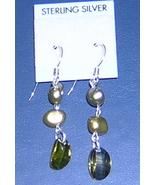 Earrings, Pearls/CZ. #08-3DSC-2428, Free Ship - $7.50