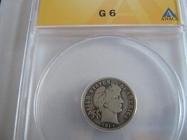 1914 Barber Dime , ANACS , G 6 - $13.00