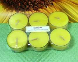 Sunflower  PURE SOY Tea Lights (Set of 6) - $5.00