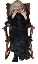 Halloween LAUGHING & Rocking Animated HAG GRANNY  WITCH Life Size Haunte... - $345.98
