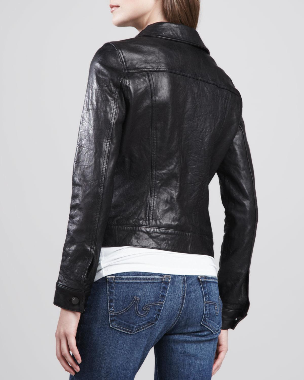 WOMEN LEATHER JACKET BLACK COLOR FASHION LEATHER JACKET FOR WOMENBIKER JACKET - Coats U0026 Jackets