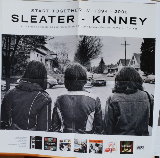 "Primary image for Sleater-Kinney ""Start Together""  21 x 21 Promo Record Store Poster, new"