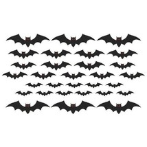 Mega Bat Cut Outs Value Pack Cemetery 30 Pc - £4.44 GBP