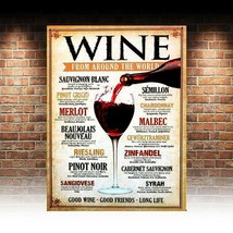 Wine From Around The World, retro vintage style metal sign man cave shed... - $5.36