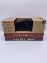 Dearfoams Slippers W/MEMORY Foam INDOOR/OUTDOOR Black Size (S,M,L) - $19.54