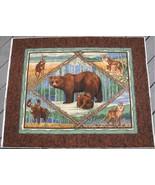 BEAR DEER WOLF CRANSTON QUILT FABRIC  PANEL - $12.99