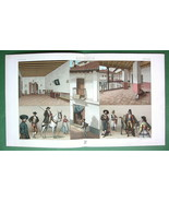 SPAIN Costume Andalusian High Society House - COLOR Litho Print by Racinet - $12.15