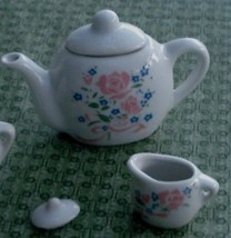Nice Vintage Miniature China Teapot, and Cream Pitcher, GOOD CONDITION - $14.84