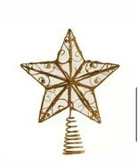 Brand New Kurt Adler 6-1/4-Inch Gold Wire Star Treetop - $9.89