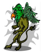 Griffin Sneaking-Digital Download-ClipArt-Art Clip-Digital Art - $4.00