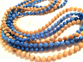 Flapper Long Plastic Beads Necklace Swirled Beads Plastic Molded Vintage... - $25.00