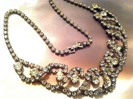 FANTASTIC Crystal Diamond Necklace Sophisticate Old Glamour Classic Runw... - $150.00