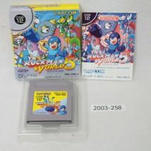 Nintendo Gameboy Rockman World 5 Megaman con / Caja Laboral Japón 2003-258 - $92.67