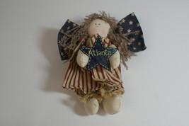 Atlanta Angel Cloth Doll Americana Primitive Handpainted Star - $5.00