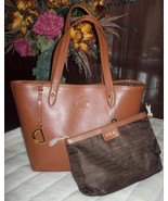 RALPH LAUREN Sloan Street Classic Tan LEATHER Tote BAG PURSE $248 new - $179.00