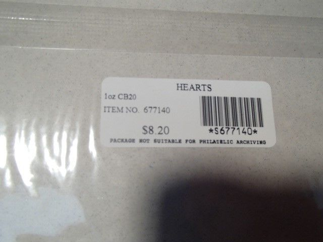 US WEDDING HEART .41 CENT STAMPS~~COLLECTOR SHEET OF 20 SEALED