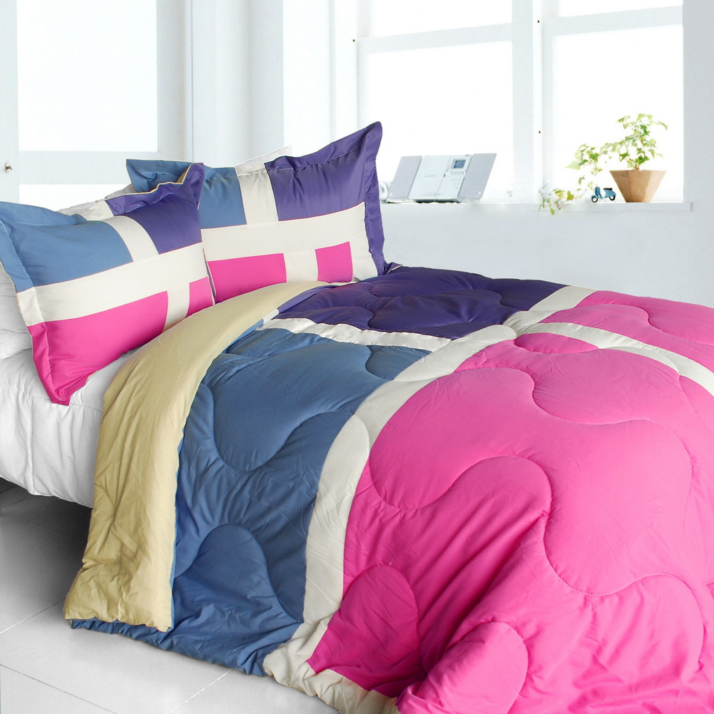 nice tamil quilted patchwork down alternative comforter set twin size comforters sets. Black Bedroom Furniture Sets. Home Design Ideas