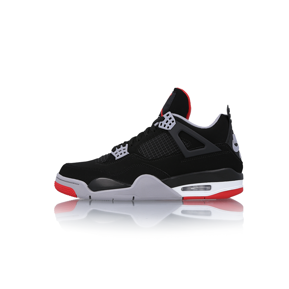new style 96d75 1efbd Nike Air Jordan 4 Retro Bred Shoes 308497-060 Black Fire Red-Cement Grey  Sneaker -  289.99