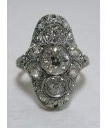 Antique Estate 1890's Beaux Arts Diamond Engagement  Ring 3.95 Carats SZ... - $62,000.00