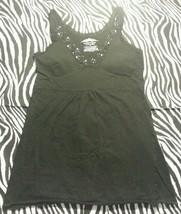 ~ Energie Women Juniors Black Sequin W/Soft Cup Lining Shirt Top ~ Size ... - $11.99